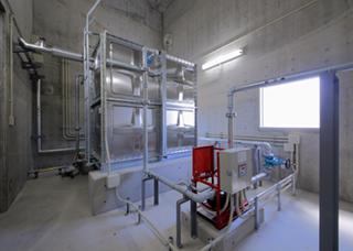 県南水道事務所脱水機棟建築工事内部設備