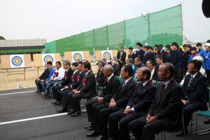 笠松運動公園アーチェリー場竣工式出席者